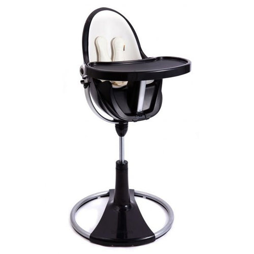 Bloom Fresco High Chair Chrome Black Frame