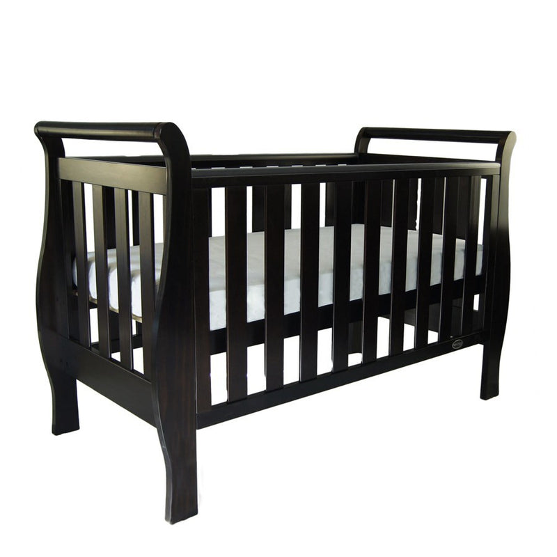 Babyhood Georgia Sleigh Cot Luxx 4 in 1 - English Oak