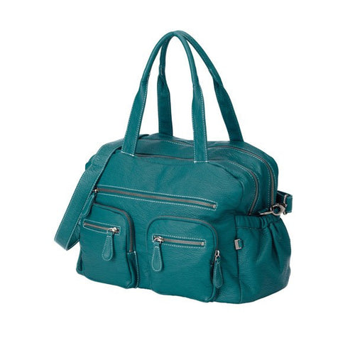 OiOi Turquoise Faux Buffalo Leather Carry All Nappy Bag