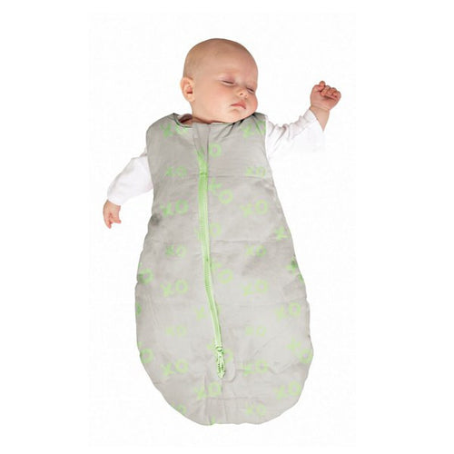 Baby Studio Infant Sleeping Bag - Lime Hugs and Kisses - 0-6 Months