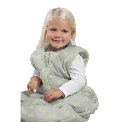 Baby Studio Toddler Sleeping Bag - Lime Kiss and Hugs - 18-36 Months
