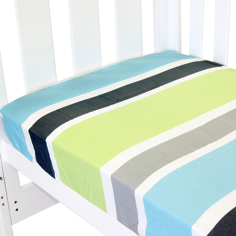 Babyhood Fitted Sheet - Summer Stripe