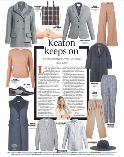 Keaton Keeps On - Anna Byrne, Herald Sun Lifestyle Feature