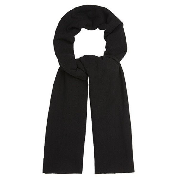 Oversized Knitted Wrap Scarf - Black