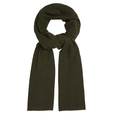 Oversized Knitted Wrap Scarf - Deep Olive