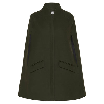 Chelsea Tailored Cape - Dark Khaki