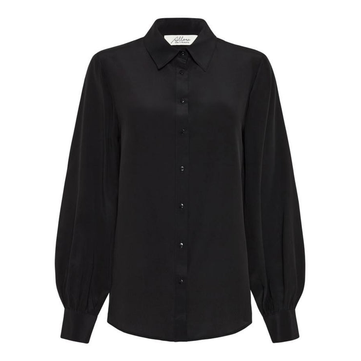 Manhattan Silk Shirt - Black