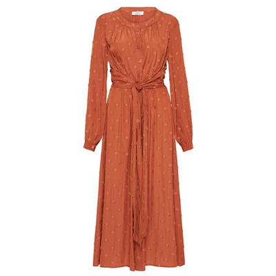 Claremont Midi Dress - Burnt Orange