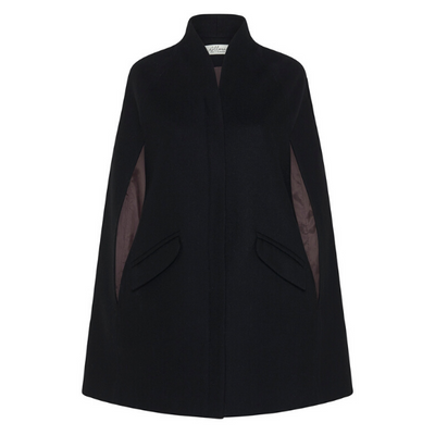 Chelsea Tailored Cape, Black - Pre Order