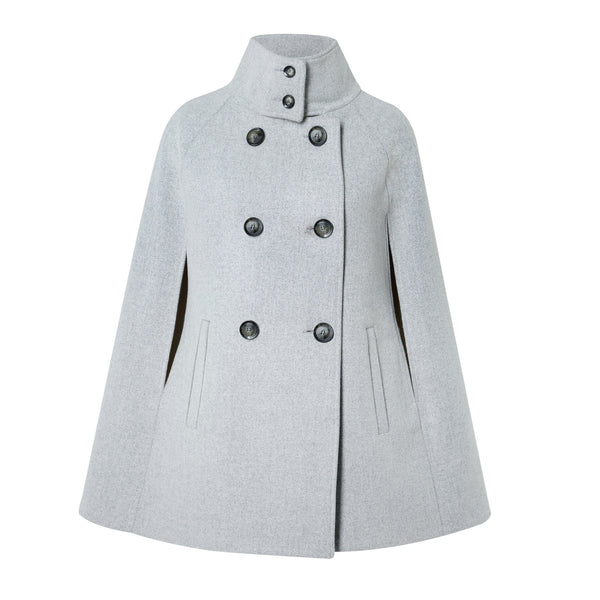 Grey Cashmere and Wool Cape - Allora Capes