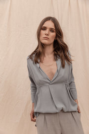 Eliza Top Dusty Blue  Pre-Order