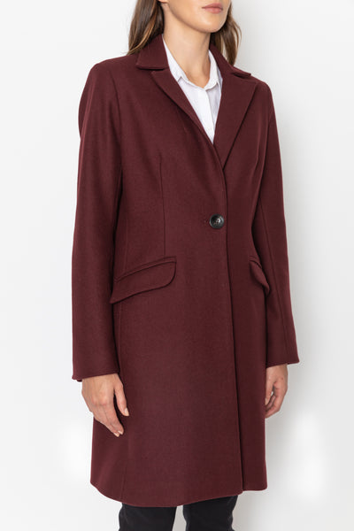 Tailored Coat - Bordeaux