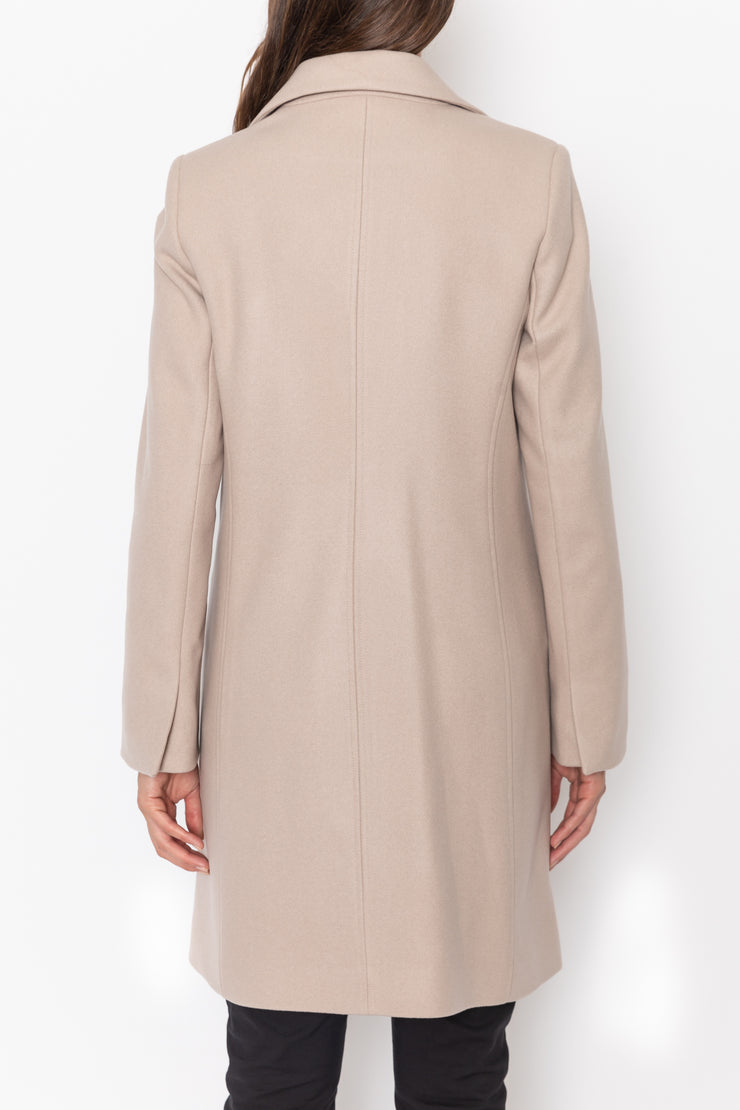 Tailored Wool Cashmere Coat - Bisque