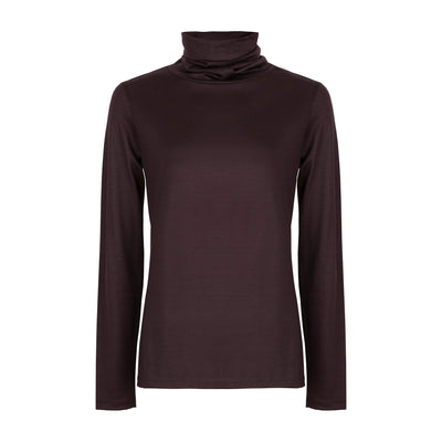 Superfine Merino Skivvy - Port