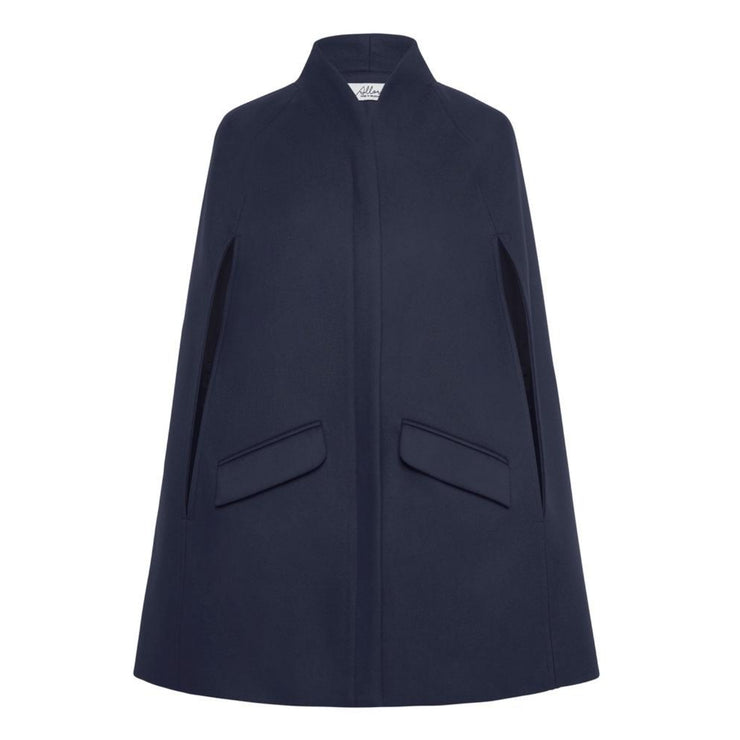 Chelsea Wool Cashmere Cape - Navy