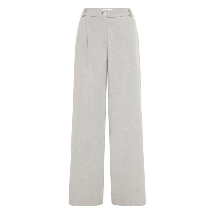 Becker Wide Leg Pant - Sport Luxe, Soft Grey