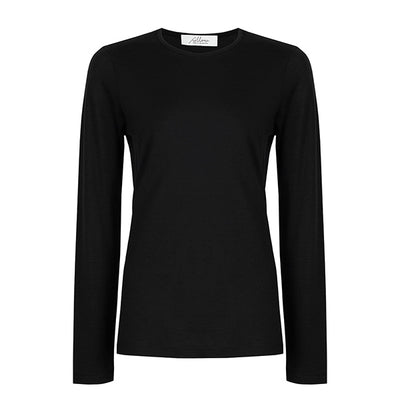 Superfine Merino Crew - Black