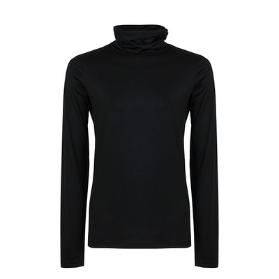 Superfine Merino Skivvy - Black