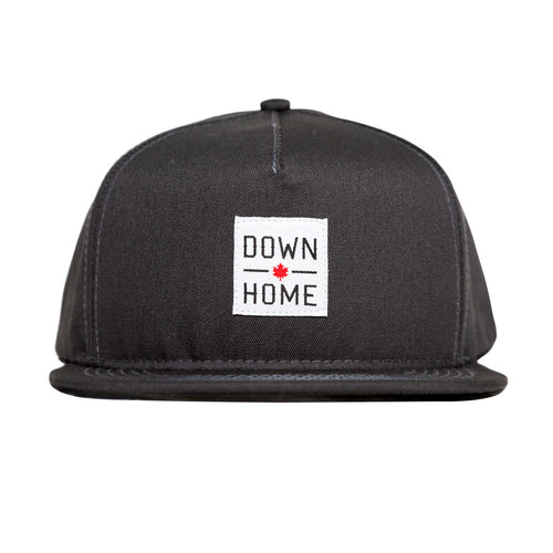 DOWN HOME STRAPBACK CHARCOAL