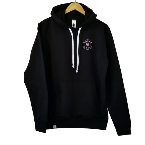 LOCAL LOVE 'CIRCLE' HOODIE BLACK