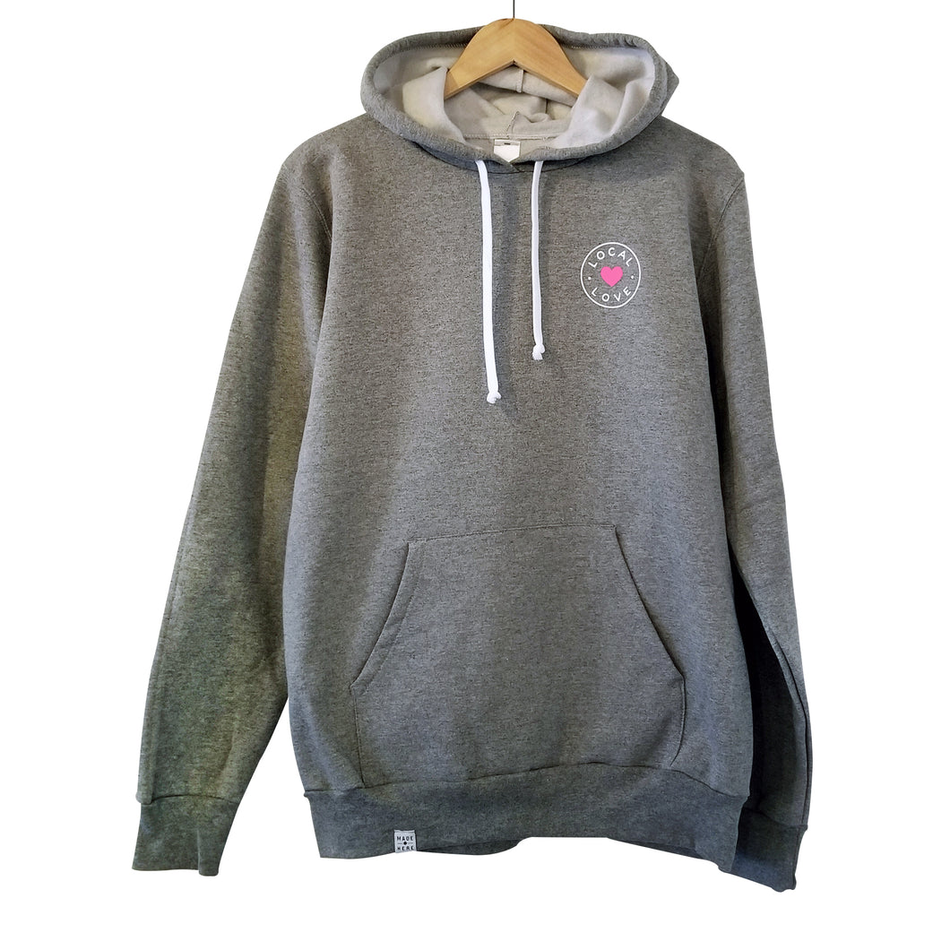 LOCAL LOVE 'CIRCLE' HOODIE GREY