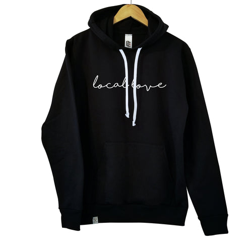 LOCAL LOVE 'SCRIPT' HOODIE BLACK