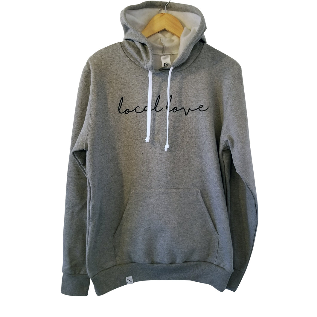 LOCAL LOVE 'SCRIPT' HOODIE GREY