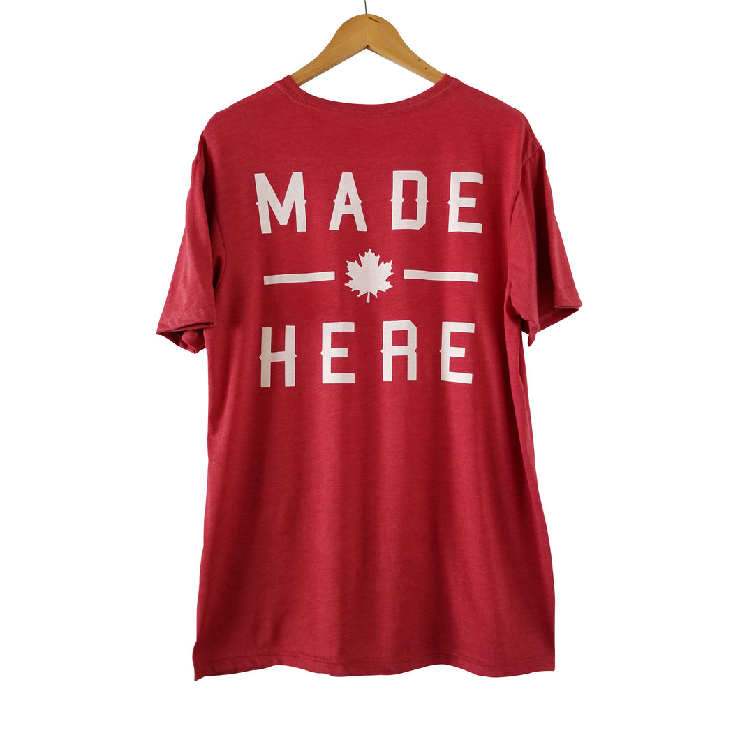 MADE HERE 'TEAM' T-SHIRT HEATHER RED