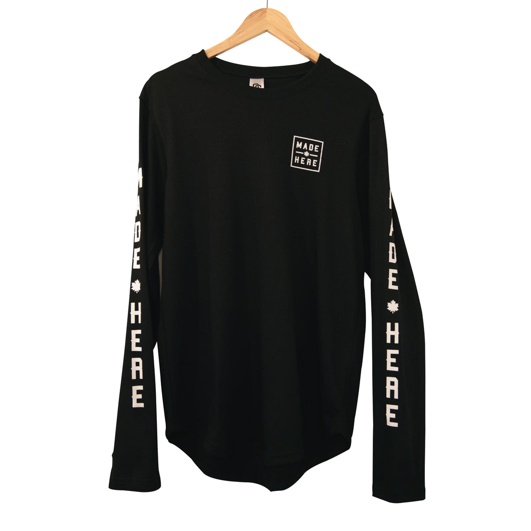 MADE HERE 'TEAM' SCOOP LS BLACK