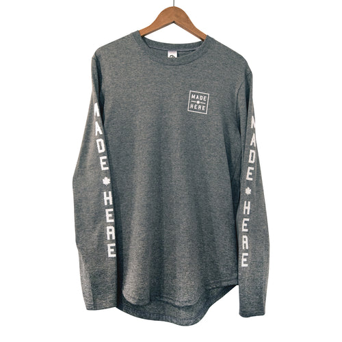 MADE HERE 'TEAM' SCOOP LS GREY