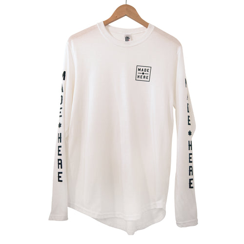 MADE HERE 'TEAM' SCOOP LS WHITE