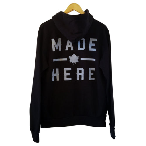 MADE HERE 'TEAM' PULLOVER HOODIE BLACK
