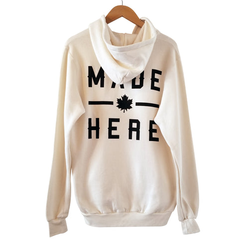 MADE HERE 'TEAM' PULLOVER HOODIE NATURAL