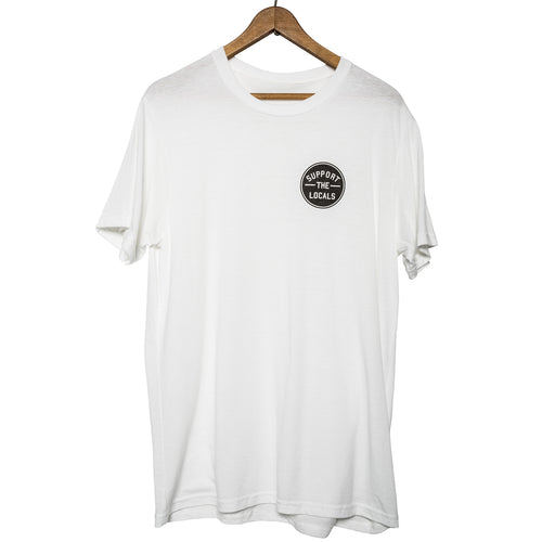 STL LOGO T-SHIRT WHITE (BLACK LOGO)