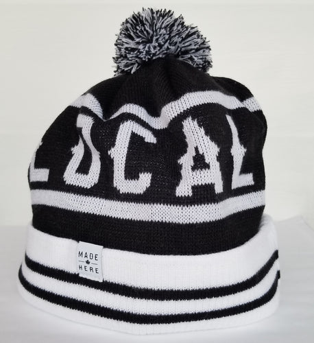 LOCAL POM BEANIE BLACK/WHITE