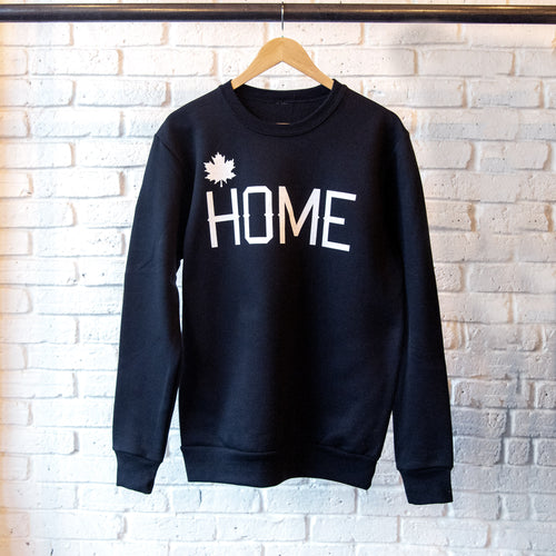 HOME CREWNECK SWEATSHIRT BLACK