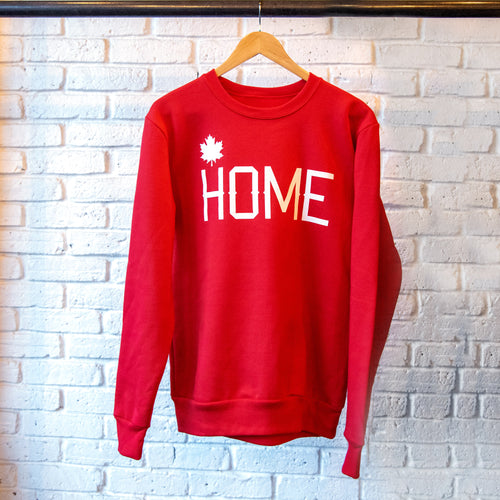 HOME CREWNECK SWEATSHIRT RED