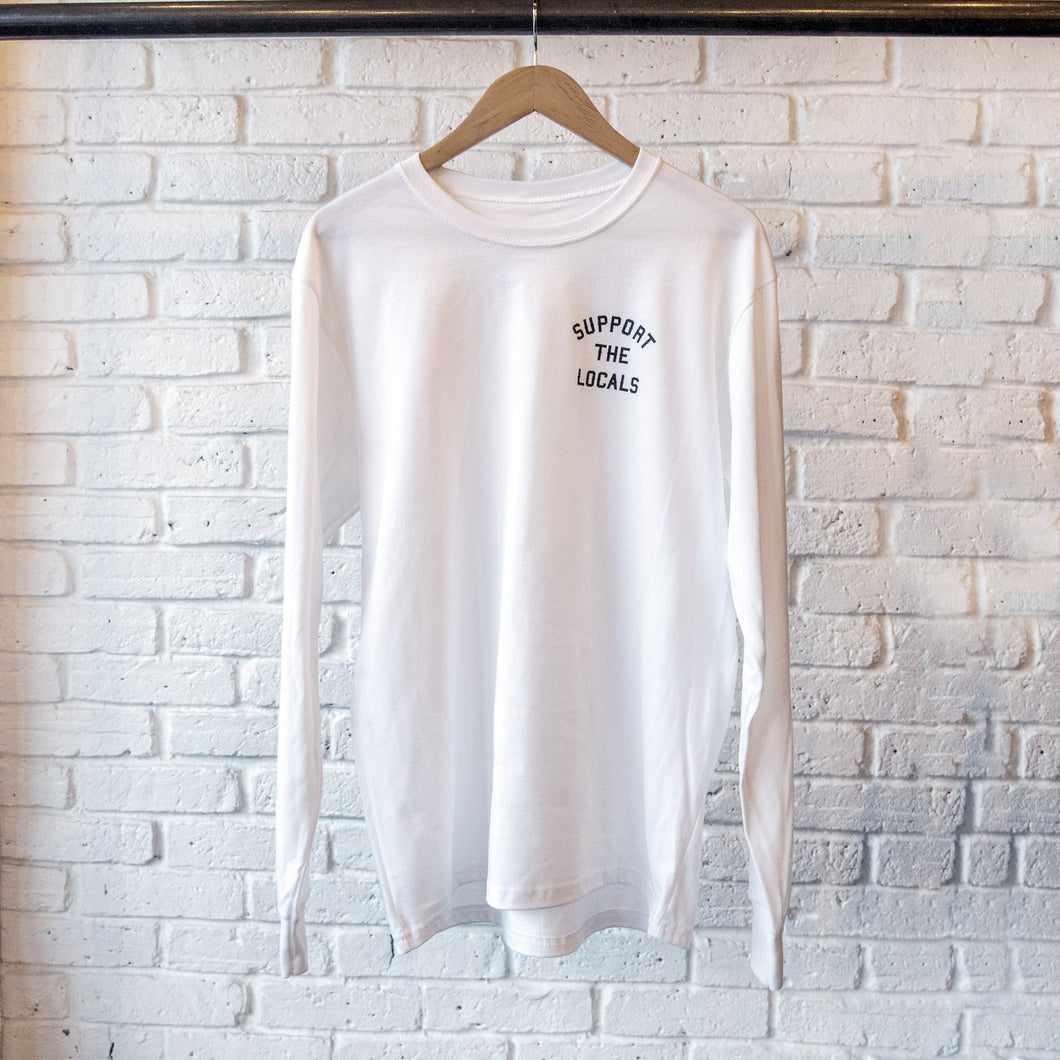 MINI 'UNION' LOGO LONG SLEEVE WHITE