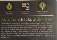 Clickfree Automatic Backup/backup Your Digital Photos