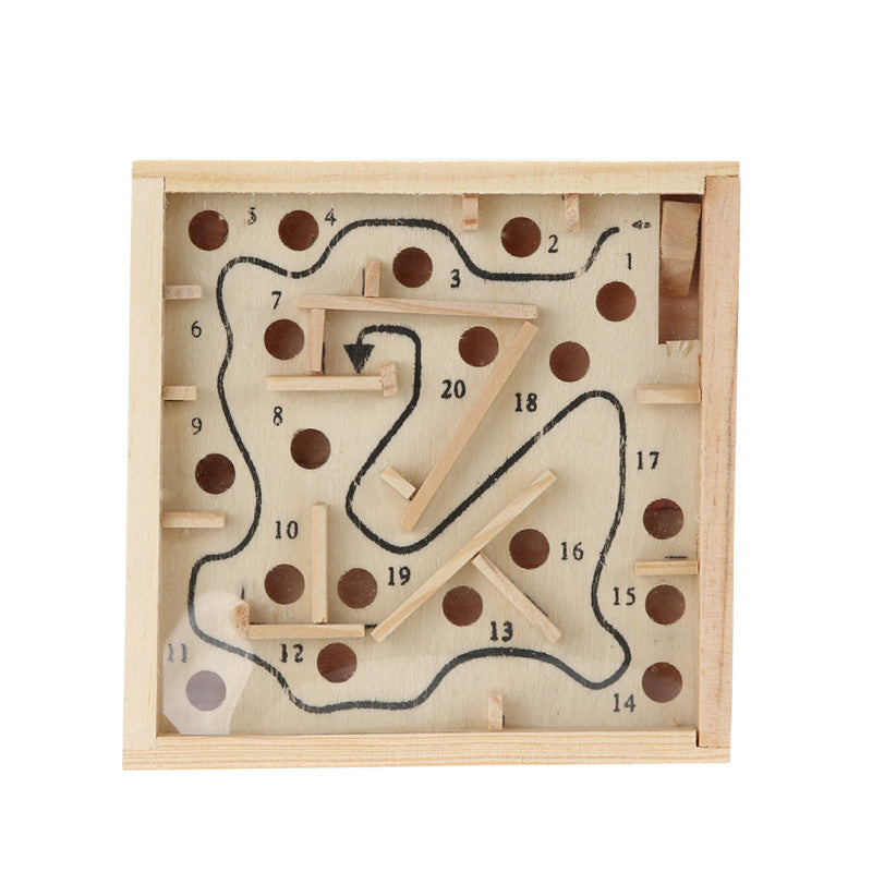 Children Educational Toys Wooden Puzzle Toys Brain Teaser Puzzle Toy Mini Maze Intellectual Development Toy Free Shipping