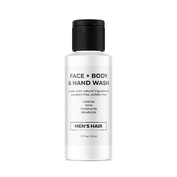 Face + Body & Hand Wash, travel size