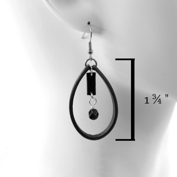 Geo Loop Leather Earrings