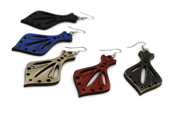Artémise Wooden Earrings (Color Options)