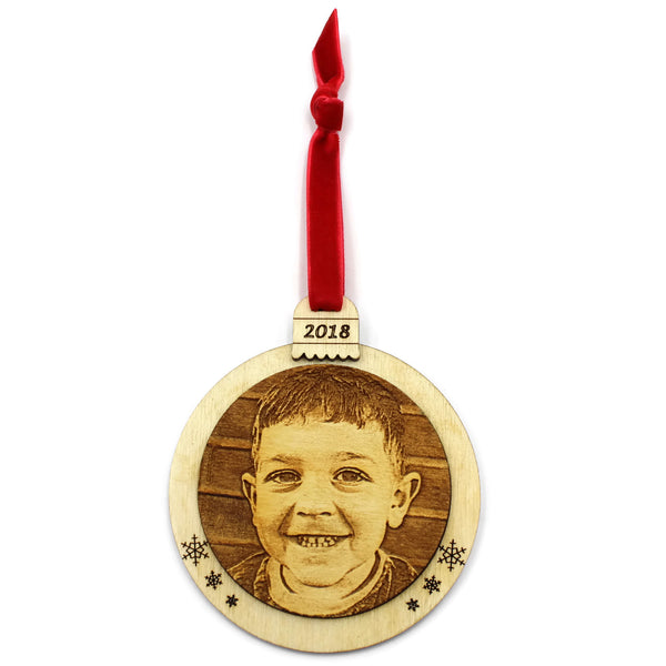 Custom Wooden Picture Ornament