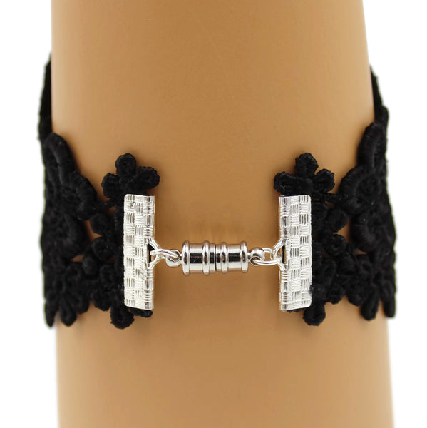 Pair of Black Lace Cuffs
