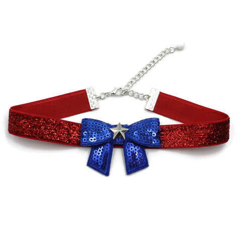 patriotic 4th of july fun accessory red white blue stars and stripes handmade in usa