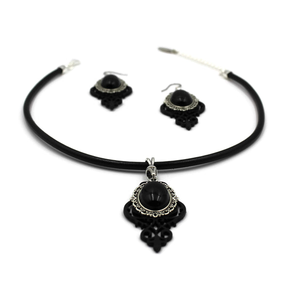 Leather Filigree Jewelry Set