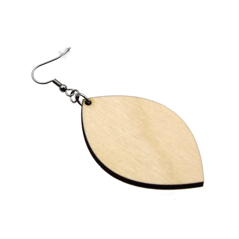 Jewelry Making Kit - 30 Wooden Marquise Earrings