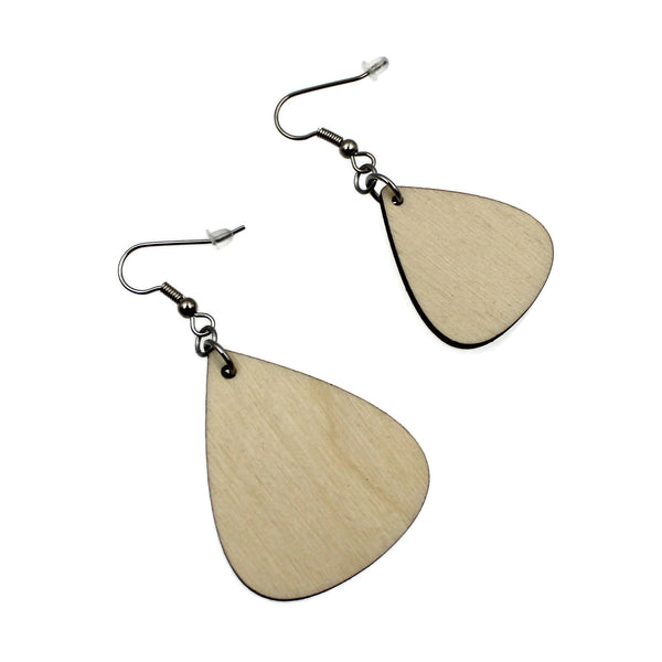 Jewelry Making Kit - 32 Wooden Teardrop Earrings - 2 Sizes Assortment