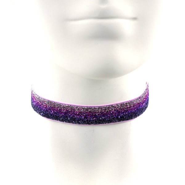 Purple Glitter Choker